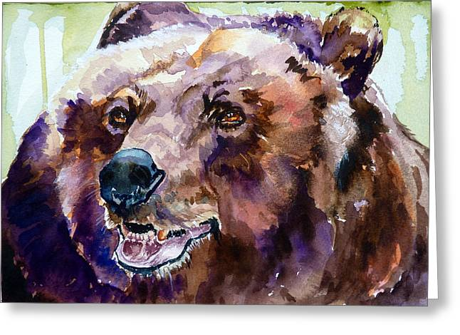This Is Me Smiling Greeting Card by P Maure Bausch