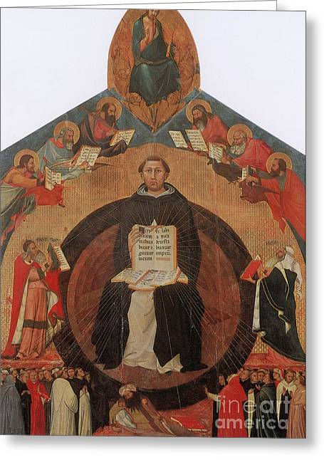 Metaphysics Greeting Cards - Thomas Aquinas, Italian Philosopher Greeting Card by Photo Researchers