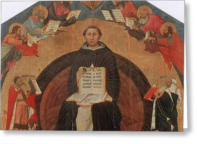 Thomas Aquinas, Italian Philosopher Greeting Card by Photo Researchers