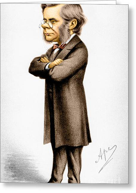 Vanity Fair Greeting Cards - Thomas Huxley, English Biologist Greeting Card by Photo Researchers