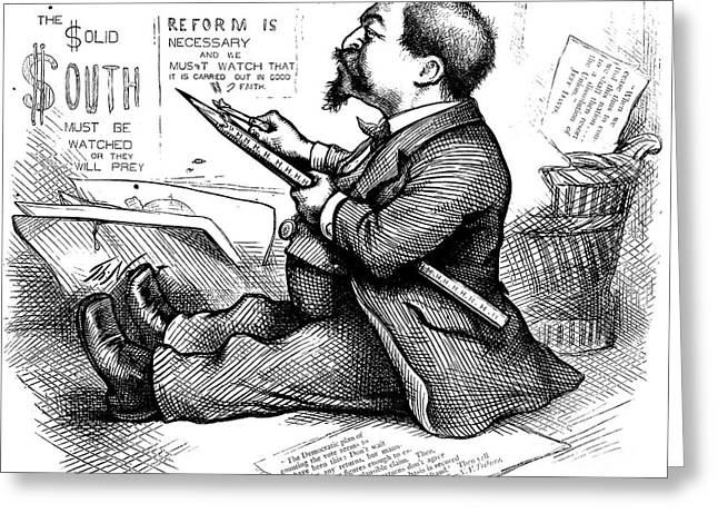 Cartoonist Greeting Cards - Thomas Nast (1840-1902) Greeting Card by Granger