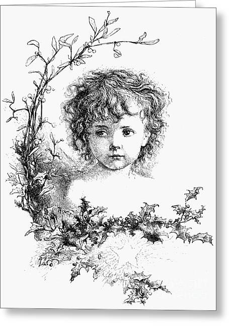 Nast Greeting Cards - Thomas Nast: Christ Child Greeting Card by Granger
