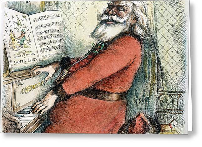 THOMAS NAST: SANTA CLAUS Greeting Card by Granger