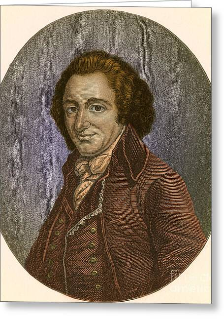 Common Sense Greeting Cards - Thomas Paine, American Patriot Greeting Card by Photo Researchers