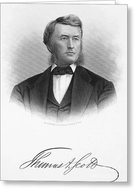 Autograph Greeting Cards - Thomas Scott (1823-1881) Greeting Card by Granger