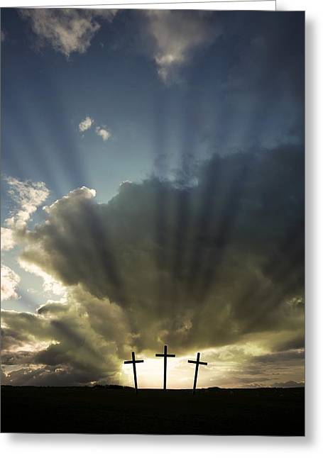 Three Crosses, West Yorkshire, England Greeting Card by John Short
