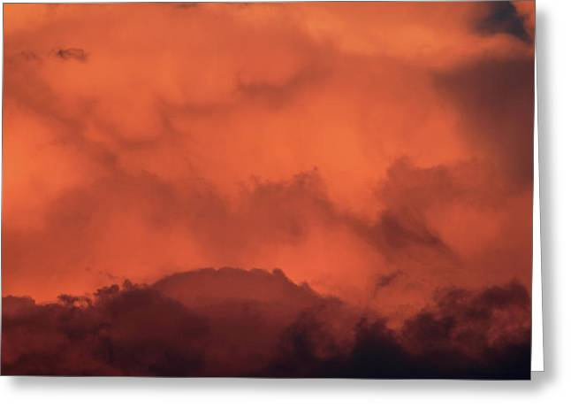 Thunderstorm Greeting Cards - Thunderstorm Cloud at Sunset Greeting Card by John Burk