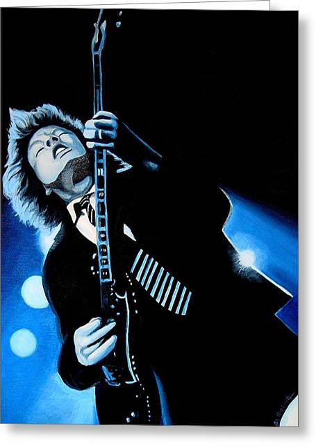 Ac Dc Greeting Cards - Thunderstruck Greeting Card by Al  Molina