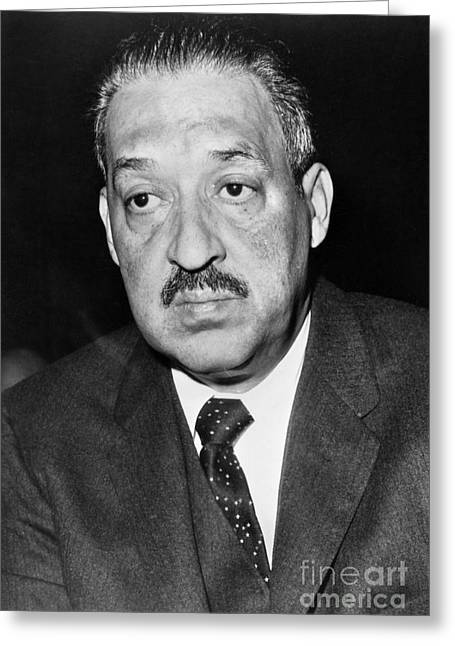 Naacp Greeting Cards - Thurgood Marshall Greeting Card by Granger