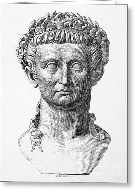 Statue Portrait Photographs Greeting Cards - Tiberius (42 B.c.- 37 A.d.) Greeting Card by Granger