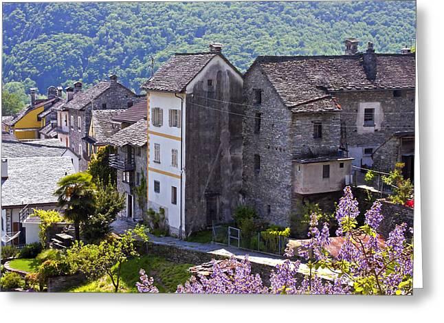 Dry Stone Wall. Greeting Cards - Ticino Greeting Card by Joana Kruse