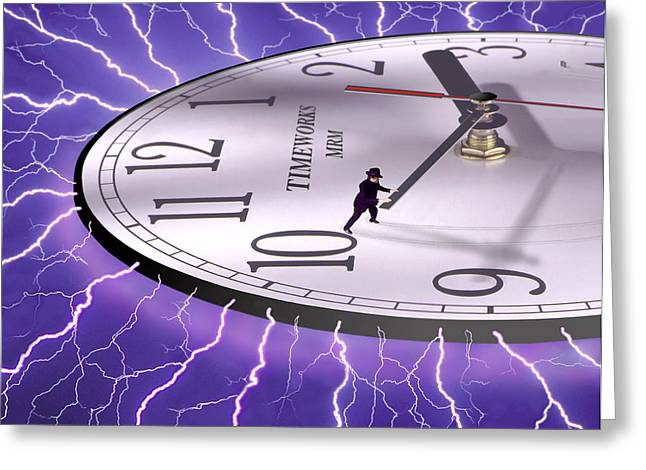 Imaginative Art Greeting Cards - Time Stops For No One Greeting Card by Mike McGlothlen