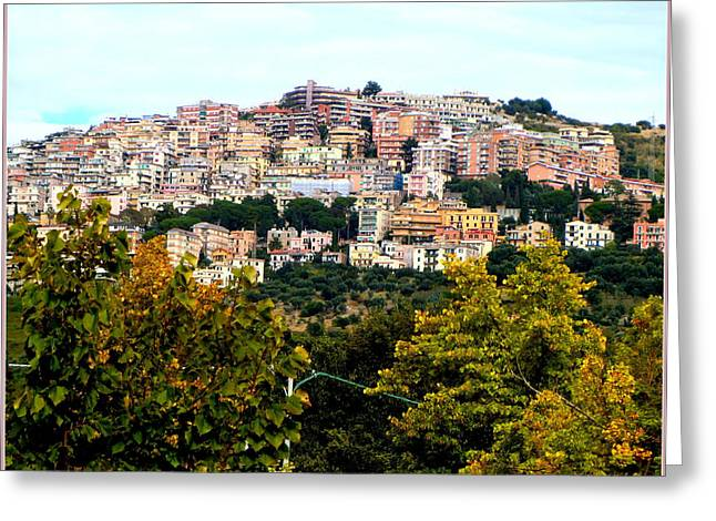Italian Landscapes Digital Greeting Cards - Tivili Italy Greeting Card by Mindy Newman