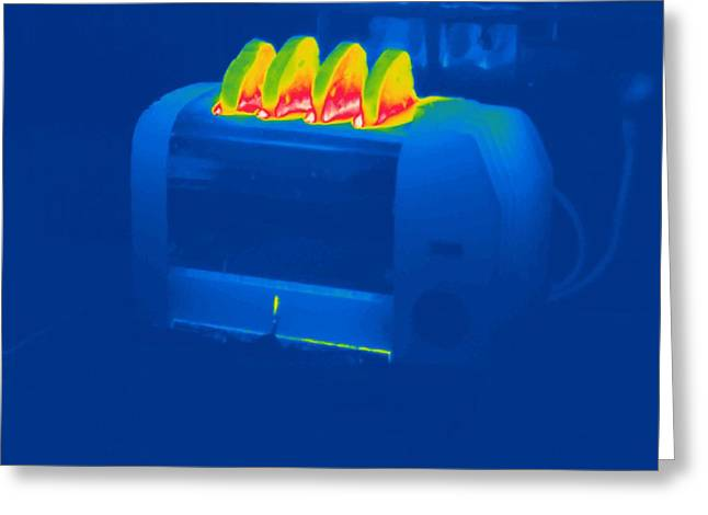 Toast Greeting Cards - Toast, Thermogram Greeting Card by Tony Mcconnell