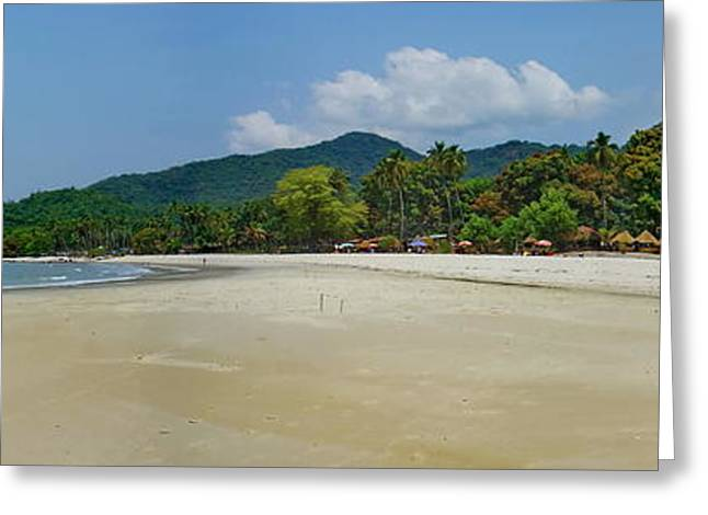 Bamboo House Greeting Cards - Tokey Beach Sierra Leone Greeting Card by Hussein Kefel