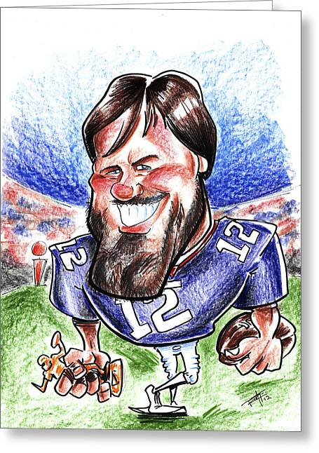 I Roate This Drawings Greeting Cards - Tom Brady Greeting Card by Big Mike Roate