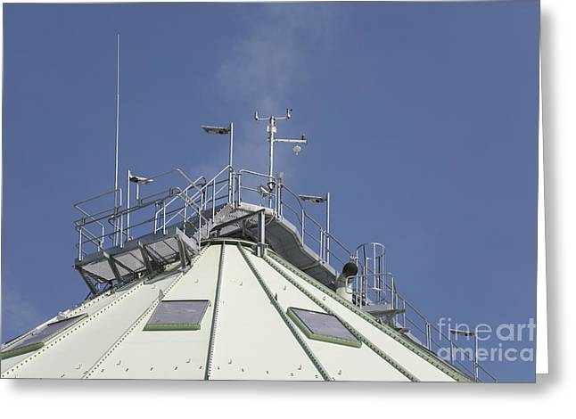 Power Plants Greeting Cards - Top of Power Plant Greeting Card by Jaak Nilson
