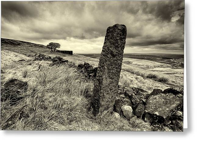 Top Withens Greeting Card by Mark Haley