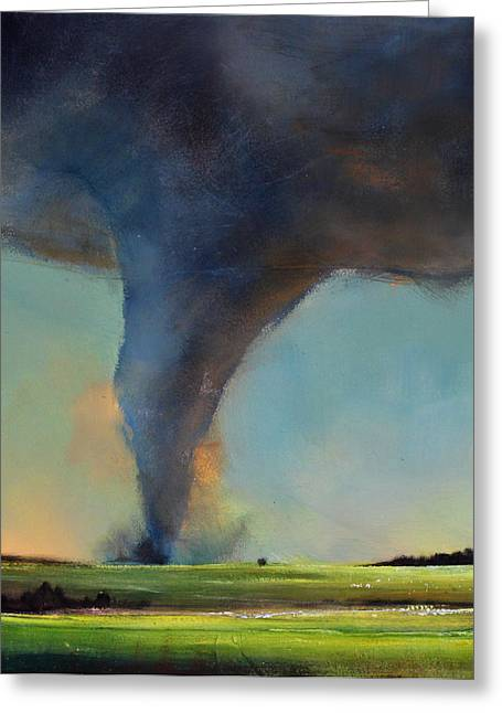 Storm Prints Greeting Cards - Tornado on the Move Greeting Card by Toni Grote