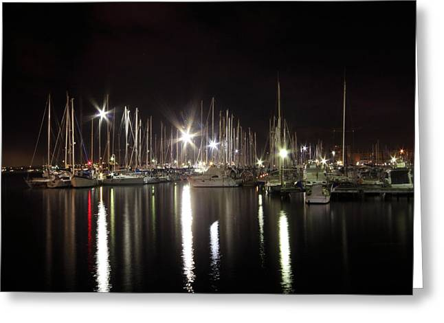 Docked Boats Greeting Cards - Torrevieja Greeting Card by Angel  Tarantella