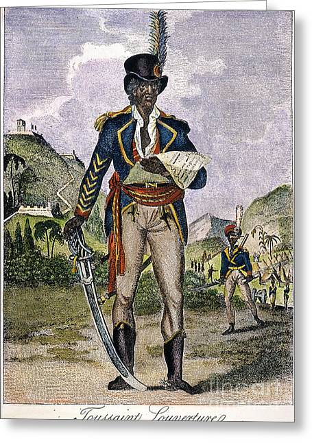 Statesman Greeting Cards - Toussaint Louverture Greeting Card by Granger