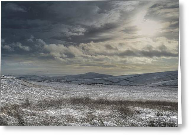 Snow Scene Landscape Greeting Cards - Towards Gradbach Greeting Card by Andy Astbury