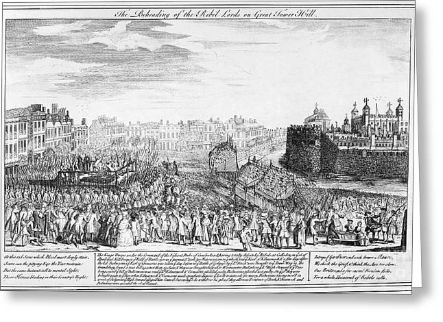Beheading Photographs Greeting Cards - Tower Of London: Execution Greeting Card by Granger