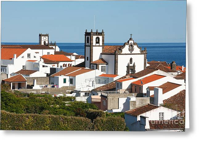 Town By The Sea Greeting Card by Gaspar Avila