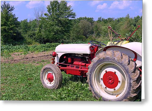 Tractor Greeting Card by Janice Drew