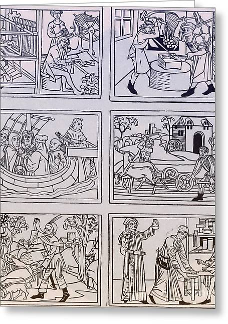 Ulm Greeting Cards - Trades, 1475 Greeting Card by Science Source