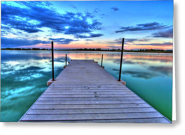 Fort Collins Photographs Greeting Cards - Tranquil Dock Greeting Card by Scott Mahon