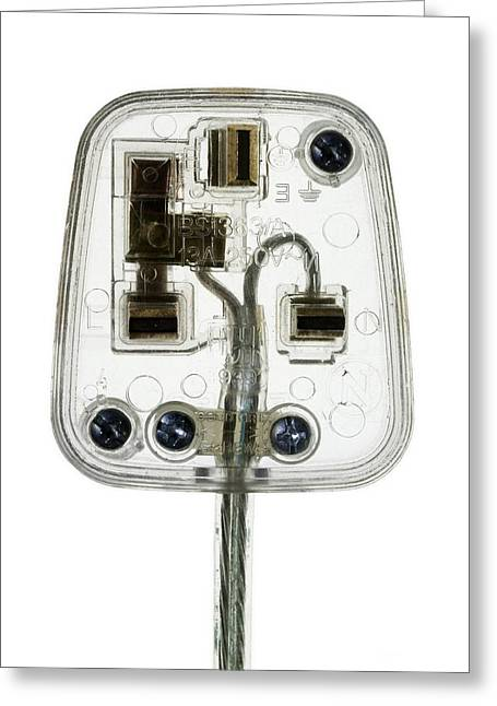 Three-amp Greeting Cards - Transparent Plug Greeting Card by Mark Sykes