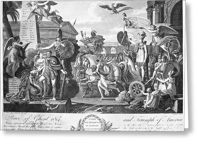 Lyrist Greeting Cards - Treaty Of Ghent, 1814 Greeting Card by Granger