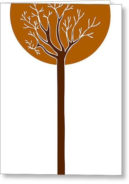 Vertical Drawings Greeting Cards - Tree Greeting Card by Frank Tschakert