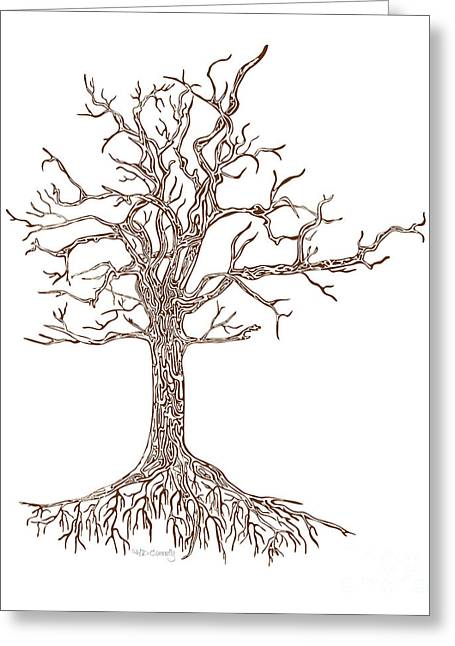 Maze Greeting Cards - Tree Greeting Card by HD Connelly