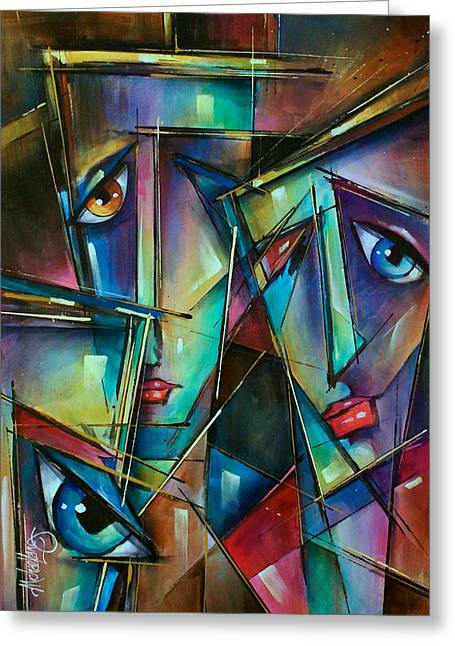 Trio Greeting Card by Michael Lang