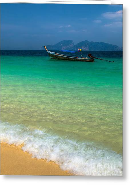 Asia Digital Greeting Cards - Tropical Paradise Greeting Card by Adrian Evans