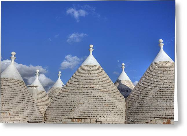 Dome Greeting Cards - Trulli of Apulia Greeting Card by Joana Kruse