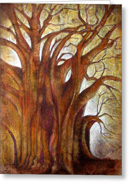 Bark Paper Prints Greeting Cards - Tule Tree Greeting Card by Jose Espinoza