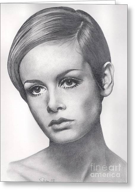Twiggy Greeting Cards - Twiggy Greeting Card by Karen  Townsend
