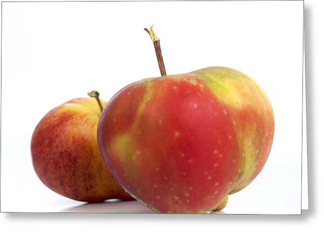 Entire Greeting Cards - Two apples. Greeting Card by Bernard Jaubert