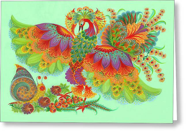 Helix Drawings Greeting Cards - Two Beauties Greeting Card by Olena Skytsiuk