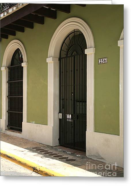 Old San Juan Greeting Cards - Two Doors Greeting Card by Timothy Johnson