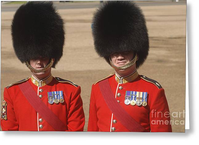 Warrant Greeting Cards - Two Warrant Officers Of The Irish Greeting Card by Andrew Chittock