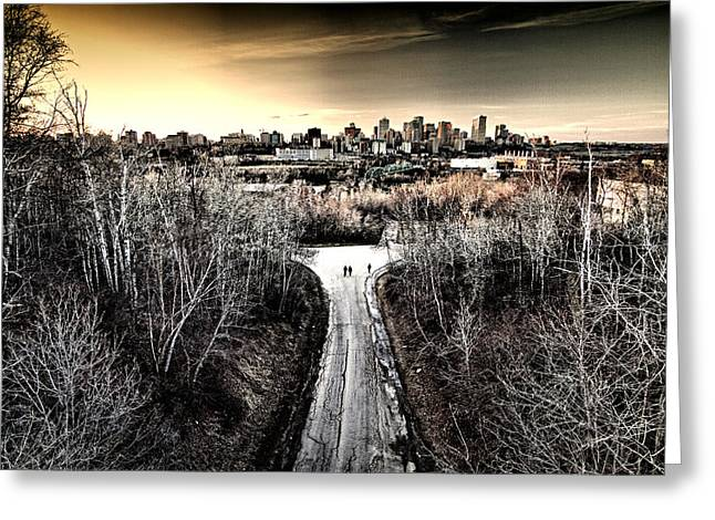 Edmonton Greeting Cards - Twos Company Greeting Card by Russell Styles