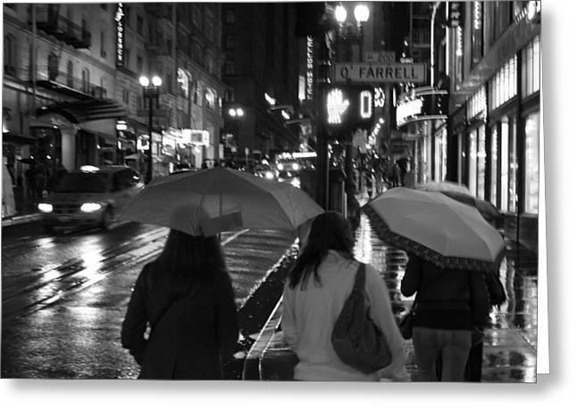 Umbrellas Pyrography Greeting Cards - Umbrellas Greeting Card by Marcel Van Gemert