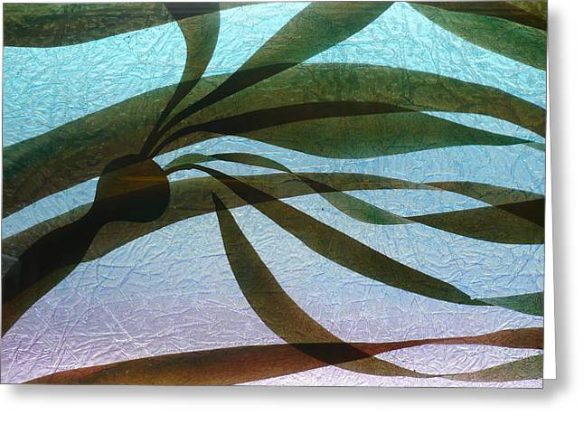 Glass Art Greeting Cards - Under Currents   detail  Greeting Card by Rick Silas