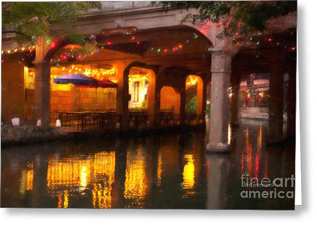 Riverwalk Greeting Cards - Under the Bridge Greeting Card by Iris Greenwell