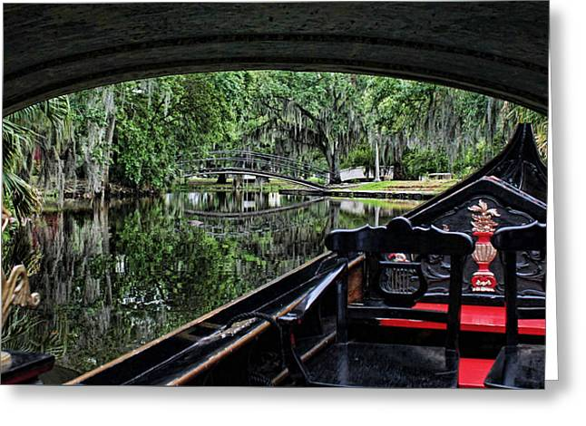Historic Home Greeting Cards - Under The Bridge Greeting Card by Judy Vincent