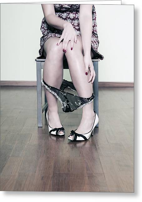 High Heeled Photographs Greeting Cards - Underpants Greeting Card by Joana Kruse